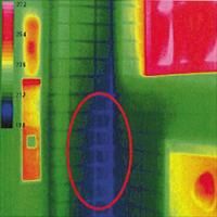 赤外線画像による外壁調査