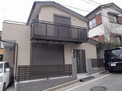 木造 施工例 – 横浜市H邸 木造二階建